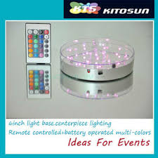 Led Light Base For Centerpieces by Buy 2014 30units Led Wedding Centerpieces Decoration Light 6 Inch
