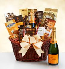 gift baskets with wine veuve clicquot luxury chagne gift basket wine