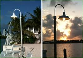 lighting white outdoor l post with outlet model 15 patio