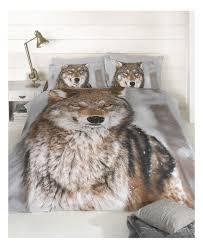 Kingsize Duvet Cover Wolf Design King Size Duvet Cover And Pillowcases Set