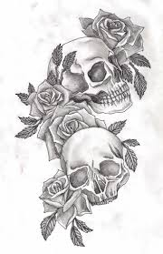best 25 skull rose tattoos ideas on pinterest lower stomach