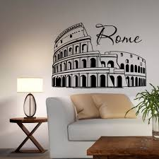 italy wall decal etsy rome coliseum wall decal vinyl sticker italy skyline silhouette interior decals murals office living room bedroom home decor
