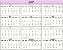 printable calendar year 2015 yearly 2015 printable calendar color weekday starts sunday