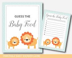 safari lion guess the baby food lion baby shower baby food game