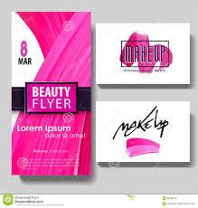 make up artist business card template stock illustration image