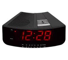 buy logik lcran12 analogue clock radio black free delivery