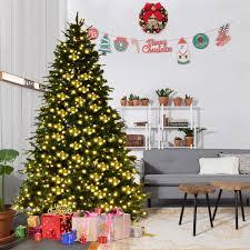 7 u0027 7 5 u0027 8 u0027 artificial christmas tree w led lights u0026 pine