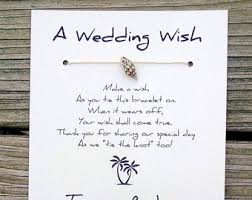 a wedding wish wish bracelet wedding favors jewelry by madebydina on etsy