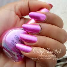 style those nails metallic pink zebra nailart swatch and notd
