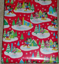 mickey mouse christmas wrapping paper christmas mickey mouse wrapping paper ebay