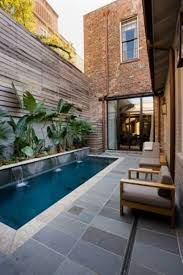 Landscaping Ideas Small Backyard by Outdoor Modern Small Backyard With Rectangular Pool Using