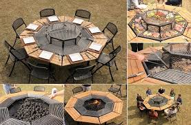 Bbq Firepit Creative Multi Purpose Jag Grill Firepit Bbq Table