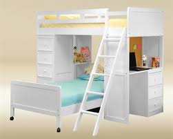 gavin white twin loft bed with desk chest los angeles