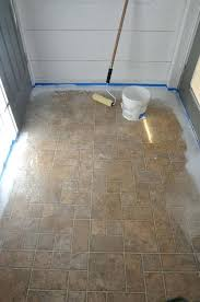 Bathroom Tile Paint Kit Super Affordable Bathroom Floor Makeover Solution How To Chalk