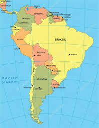 World Map Of South America by Political Map Of South America U2014 Stock Vector Jelen80 1997399