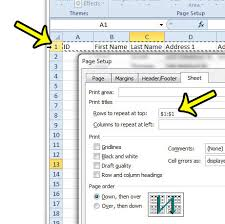 how to print a row at the top of every page in excel 2010 live2tech