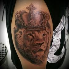 lion with crown tattoo crowned lion tattoo ideas 2018