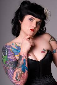 pin up with tattoos stock image image of individual