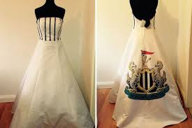 to be snaps up newcastle united wedding dress on ebay