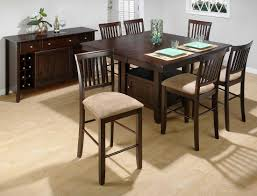 bakery u0027s cherry counter height 7 piece dining set with slat back