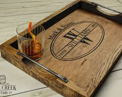 personalized trays personalized wine barrel serving trays and by rockcreekfurnitureco