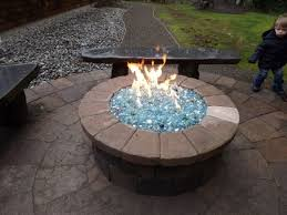 Propane Firepit Propane Pit With Glass Can Build This Pit For You Or