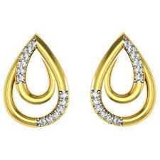 gold kaan earrings gold earrings buy online gold earrings at low price homeshop18