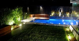 Outdoor Backyard Lighting Ideas Small Swimming Pool Design For Modern Garden Plan Using Sparkling