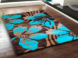 Blue Brown Area Rugs Amazing Teal Area Rug With Borders Interior Home Design For Brown