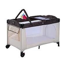 Portable Baby Change Table Homcom Baby Travel Cot Portable Playpen Bed Hammock Changing