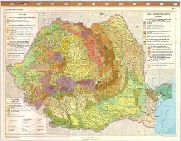 Map Of Romania Atlasul Republicii Socialiste Romania Harta Geomorfologica Iii