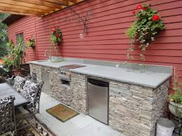 outdoor kitchen cabinets kitchen cabinets creative container gardening idea feat concrete
