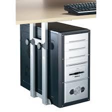 sous le bureau support de pc pour fixation sous le bureau iph002 s gris argent