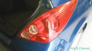 how to replace nissan tiida versa tail light bulb youtube