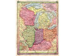 Maps Of Illinois by Old Map Of Wisconsin Michigan Map Illinois Map Indiana Map