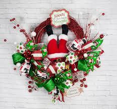 santa wreath santa wreath santa christmas wreath raz
