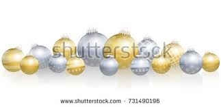 balls loosely arranged gold silver stock vector 731490196