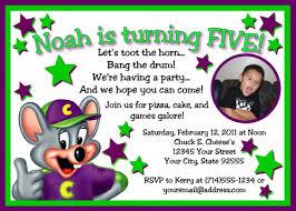 chuck e cheese birthday invitations kawaiitheo com