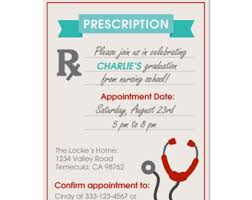 nurse graduation party invitations iidaemilia com