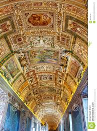 Decorated Ceiling Painted Ceiling At Vatican Museum Editorial Photo Image 90739116