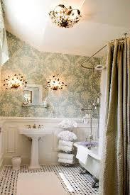 Antique Bathroom Ideas Top 25 Best Small Bathroom Wallpaper Ideas On Pinterest Half