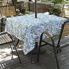 Tablecloth For Umbrella Patio Table Eforcurtain Square 60inch Umbrella Outdoor Tablecloth