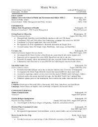 Resume University One Page Resume Mark Wolfe