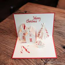wholesale greeting cards wholesale christmas greeting cards 3d paper cutting castle christmas