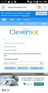cleverbot apk 74 1011 pm wwwcleverbotcom 33 this website uses cookies to enable
