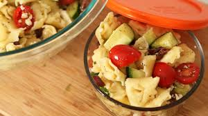 back to lunch tortellini salad the domestic geek