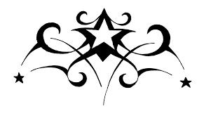art star tattoo clipart