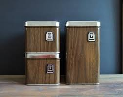 Kitchen Counter Canister Sets by Metal Canister Set Etsy