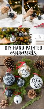 easy diy project are these diy painted ornaments with