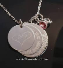 Disc Necklace Personalized Engraved 3 Discs Necklace Iheartpersonalized